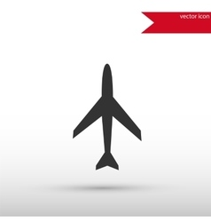 Airplane icon Flat design vector image