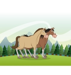 Horse icon landscape background graphic vector