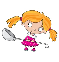 girl with a spoon vector image