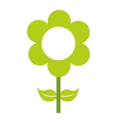 Green flower floral icon vector