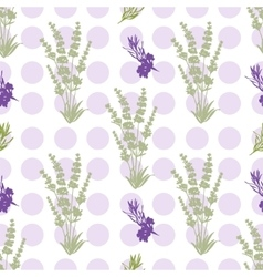 Seamless lavender flowers background botanical vector
