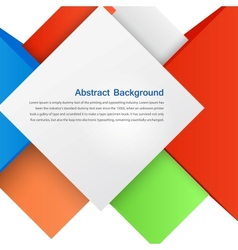 abstract background Square and 3d object vector image