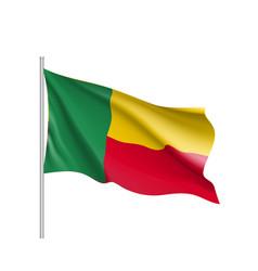 Benin realistic flag vector