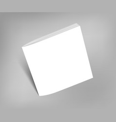 Blank square brochure magazine mock-up vector image
