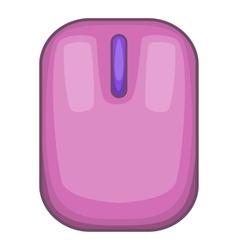 Computer mouse icon cartoon style vector