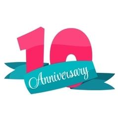Cute template 10 years anniversary vector