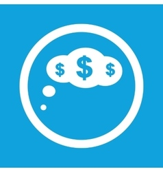 Dollar thought sign icon vector