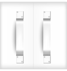 Door handles vector image