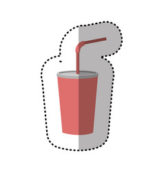 Drinks soda with flat icon vector