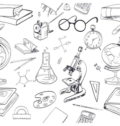 Education icon doodle seamless vector