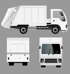 Garbage Disposal Truck vector image vector image