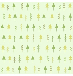 Geometric spruces seamless pattern vector image