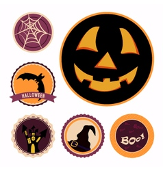 Halloween badges vector
