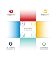 Infographic design template options banner vector