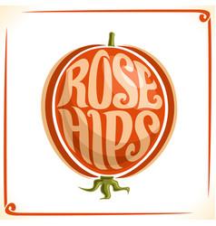 Logo for rose hips vector