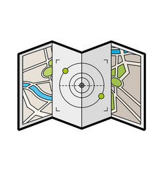 Map paper with target vector