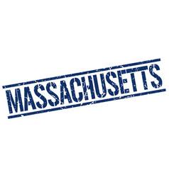 Massachusetts blue square stamp vector