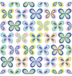 Multicolor geometric butterflies seamless pattern vector image vector image