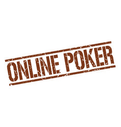 Online poker stamp vector