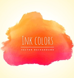 Orange ink color paint vector