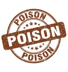 Poison brown grunge stamp vector