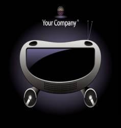 radio console vector image
