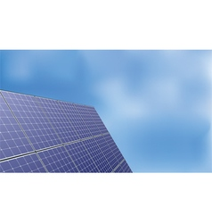 solar panel over blue sky background vector image vector image