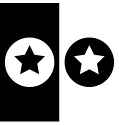 stars in circle black and white vector image vector image
