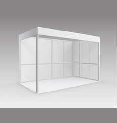 Trade exhibition booth stand for presentation vector