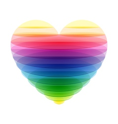 Transparent heart vector
