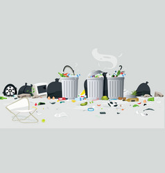 waste of garbage vector image