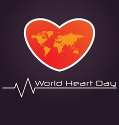 World heart day poster vector