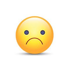 Worried cartoon emoji frustrated distressed vector