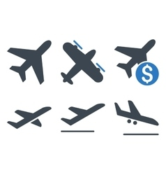 Aviation flat icons vector
