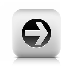 Web icon with arrow sign in black circle vector