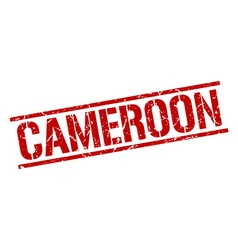 Cameroon red square stamp vector