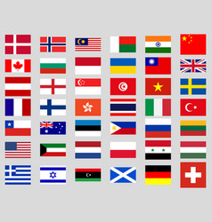 Collection of flags of the world vector