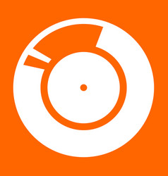 Vinyl record retro sound carrier white icon vector