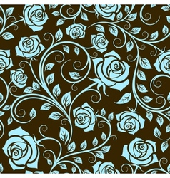 Antique scrolling rose seamless pattern vector image
