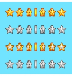 Star gold silver rotation set sprite game vector