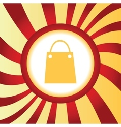 Shopping bag abstract icon vector