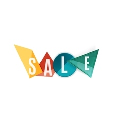 Sale word label banner vector