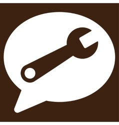 Service message icon vector