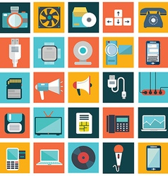Computer technology and electronics devices mobile vector