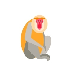 Cute monkey icon logo symbol vector