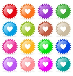 Stickers hearts vector