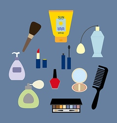 Make up icons set vector