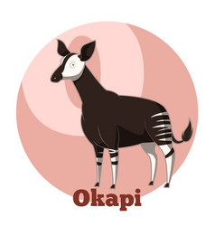 Abc cartoon okapi vector