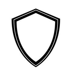 Black icon shield cartoon vector