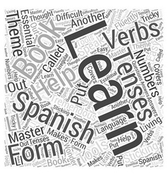 Books and other tools to help you learn spanish vector